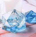 オルゴナイト 2個セット 宝石 多面体 シリコンモールド ネックレス アクセサリー パーツ 作成 UVレジン オルゴナイト …