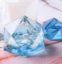 オルゴナイト 2個セット 宝石 多面体 シリコンモールド ネックレス アクセサリー パーツ 作成 UVレジン オルゴナイト エポキシ樹脂 樹脂粘土 型 抜き型 キット 道具