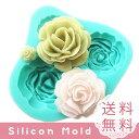 シリコンモールド レジン 薔薇 2枚セット バラ ハンドメイド 新入荷 クレイアート プレゼント アクセサリー ローズ …