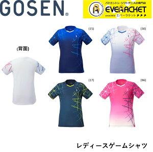 【在庫限り40%OFF】【ポスト投函送料無料】ゴーセン GOSEN ウエア レディースゲームシャツ T2043 バドミントン・テニス