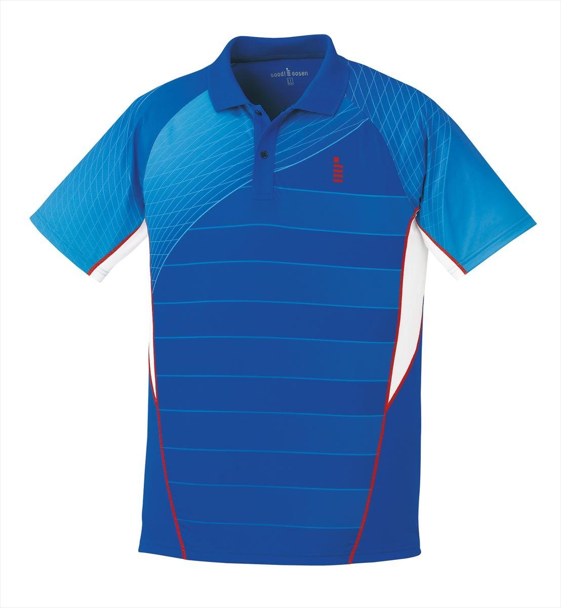 ゴーセン GOSEN T1700 テニス・バドミントン ウェア(メンズ/ユニ) ゲームシャツ ロイヤルブルー 17SS
