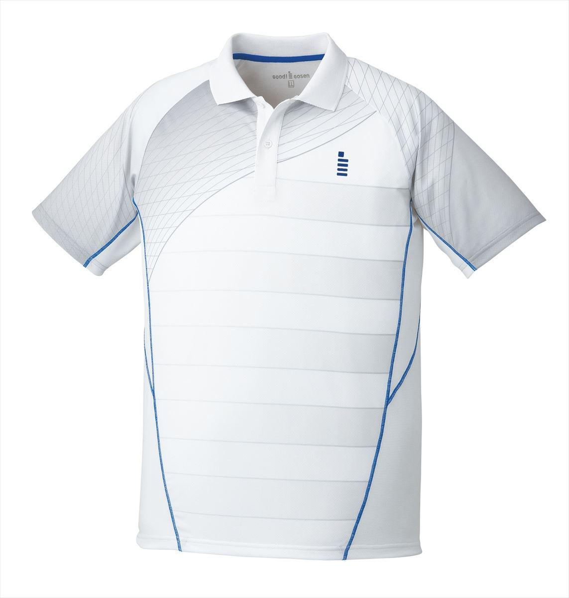 ゴーセン GOSEN T1700 テニス・バドミントン ウェア(メンズ/ユニ) ゲームシャツ ホワイト 17SS