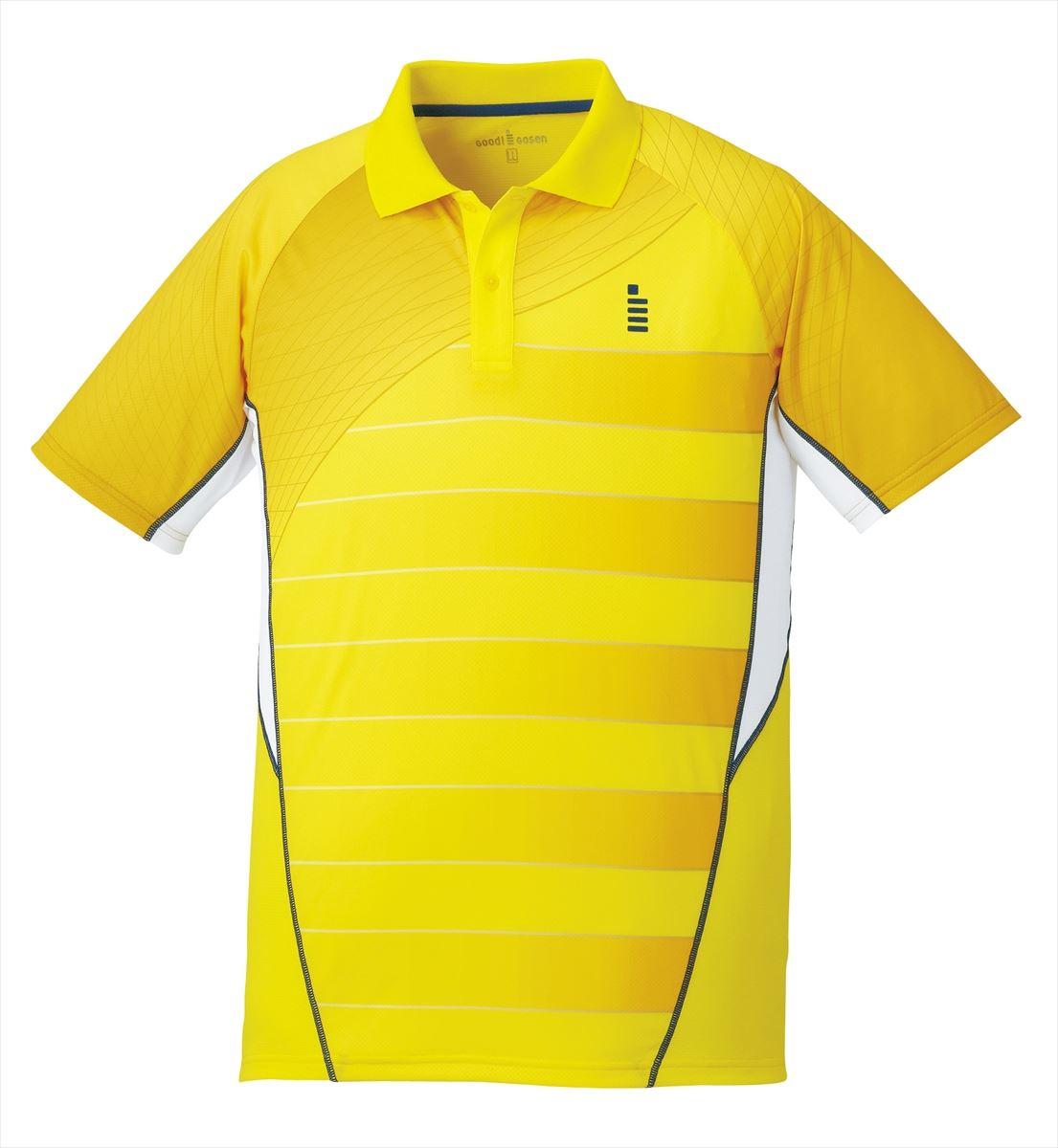 ゴーセン GOSEN T1700 テニス・バドミントン ウェア(メンズ/ユニ) ゲームシャツ イエロー 17SS