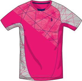 【ゴーセンクリアランス】ゴーセン GOSEN T1706 テニス・バドミントン ウェア(メンズ/ユニ) ゲームシャツ ピンク 17SS