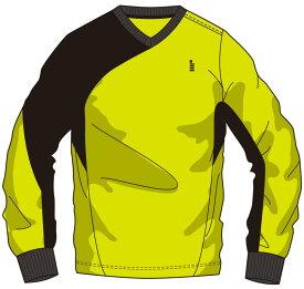 ゴーセン GOSEN W1710 テニス・バドミントン ウェア(メンズ/ユニ) ライトトレーナー ライムイエロー 17SS