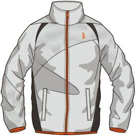 【ゴーセンクリアランス】ゴーセン GOSEN Y1700 テニス・バドミントン ウェア(メンズ/ユニ) ライトウィンドジャケット ライトグレー 17SS