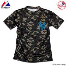 ヤンキースTシャツメンズカモフラ迷彩NEWYORKYANKEESニューヨークヤンキースマジェスティックジャパンヤンキースTシャツNY