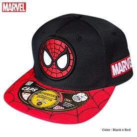 帽子 マーベル MARVEL スパイダーマン ストリートキャップ メンズ ベースボールキャップ アべンジャーズ 刺繍 ロゴ 厚盛り ダンス グッズ
