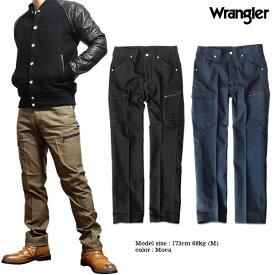 Wrangler ラングラー カーゴパンツ ボトムス メンズ パンツ ポケット ワークウェア ワークパンツ ブラック 黒 ノータック オックス 送料無料