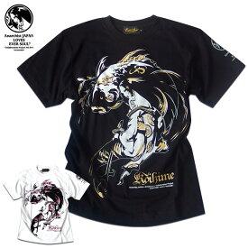 Anarchist JAPAN Tシャツ メンズ 和柄 ガールプリント 女の子柄 キャラクター ホワイト 白 ラメ ブラック 黒 tシャツ EVERSOUL