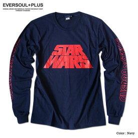 STARWARS スターウォーズ Tシャツ メンズ ロンT 長袖 ネイビー ダースベイダー ダースベーダー グッズ 袖 ロゴ プリント