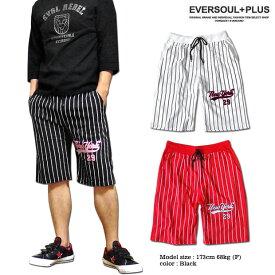 ショートパンツ メンズ ハーフパンツ NEWYORK 刺繍 短パン ダンス 衣装 コットン HIPHOP ゴム ストリート