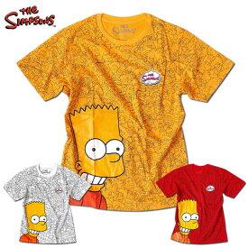 シンプソンズ Tシャツ メンズ 総柄 黄色 イエロー 半袖 THE SIMPSONS キャラクター グッズ 派手 ザシンプソンズ アメコミ