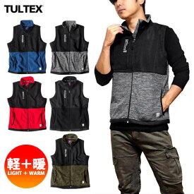 TULTEX フリースベスト メンズ ベスト フリース ジップアップ ハイネック ファスナー 秋 冬 3L 大きいサイズ アウトドア 防寒 暖かい ウォーキング おしゃれ