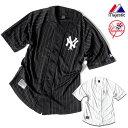 ベースボールシャツ メンズ ニューヨーク ヤンキース マジェスティック Majestic ユニフォーム メッシュ シャツ HIPHOP ストリート ス…