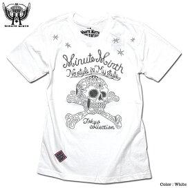 刺繍 Tシャツ スカル ペイズリー スター ロック バイカー モーターサイクル メンズ バンド 衣装 / 「MINUTE MIRTH」のペイズリースカル刺繍入りTシャツ!