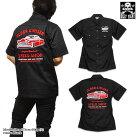 ロカビリーシャツボーリングシャツダーツシャツメンズバイカーロック半袖シャツアメ車/BILLYEIGHTのモーターサイクルビンテージカー刺繍メンズ半袖シャツ!XXL3L