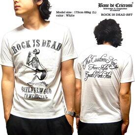 Tシャツ スカル メンズ ギター 十字架 tシャツ 半袖 ロック tシャツ