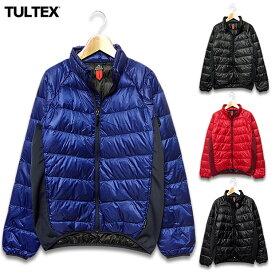 ライトダウンジャケット TULTEX メンズ ライトダウン ダウンジャケット 軽量 防寒 大きいサイズ ブランド 赤 レッド
