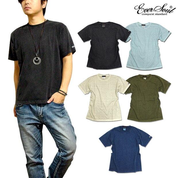 Tシャツ 無地 メンズ ウォッシュ加工 ビンテージ 定番 : ピグメントバイオウォッシュ加工で絶妙なビンテージ感の無地Tシャツ!
