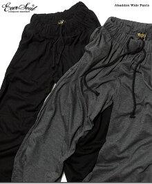 ワイドパンツメンズガウチョパンツバギーパンツブラック黒スカンツ綿「AbaddonWidePants」ビッグシルエットのワイドパンツで最先端のストリートモードスタイルに!