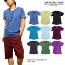 Tシャツ Uネック メンズ ハードウォッシュ バイオウォッシュ ビンテージ 定番 Uネック : ハードウォッシュ加工の絶妙な色落ちでセンス…