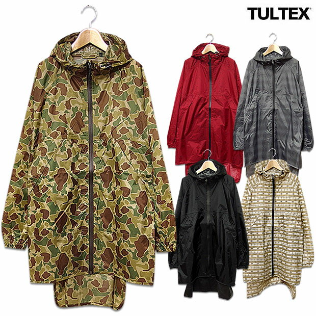 レインコート メンズ レインパーカー レインジャケット TULTEX 雨合羽 カッパ おしゃれ 自転車 ポンチョ 雨具 防水 ロング