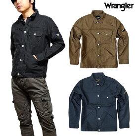 Wrangler ラングラー ワークジャケット Gジャン ボタンダウン メンズ アウター ワークウェア オックス ジャケット 羽織り 大きいサイズ 秋 春 LL 3L