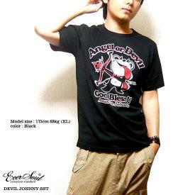 キャラクター Tシャツ メンズ ラメ 日本製 tシャツ 大人 可愛い「DEVIL JOHNNY SST」デビルジョニーTシャツ!