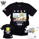 スポンジボブ Tシャツ メンズ アメコミ キャラクター プリント SPONGEBOB : 人気キャラクター「スポンジボブ」のストリートTシャツ!…