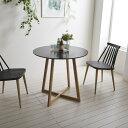 カフェテーブル 北欧 丸テーブル おしゃれ ホワイト ブラック 直径60cm