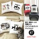 【名入れ&写真入り 愛犬猫 クッション 多頭飼い】ツインシリーズ クッション 45cm クッションカバー