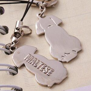 【犬 チャーム】マルチーズ チャーム ストラップ キーホルダー 犬用品 犬グッズ 犬雑貨 ギフト プレゼント【 ペット 名入れ 対象外】