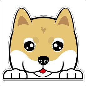 柴犬 のぞき犬フェイスステッカー 25cm 犬ステッカー 車ステッカー 転写シール【名入れ対象外】