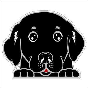 ● 車 シール ステッカー 耐水 ラブラドールレトリバー 黒 フェイスステッカーBIG ペット 犬 転写シール 名入れ 対象外 ペット