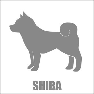 ■ Silhouette stickers / Shiba sideways facing (no name)
