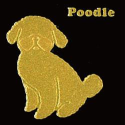 蒔絵ステッカー プードル ゴールド iphone 携帯電話 デコレーション 犬ステッカー ◎ ギフト プレゼント ※ネーム入り商品ではありません 在庫限り OUTLET