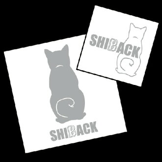 SHIBACK sticker / Shiba silhouette / Our shop's original design