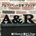 【アルファベット文字 ブラック 100 厚さ15】 アルファベット オブジェ カルプ文字 黒 ディスプレイ オブジェ インテ…