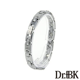 Dr.+BK ゲルマニウムブレスレットBT003TS3 シルバー [Bracelet]