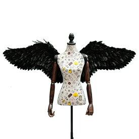 天使の羽 コスプレ 道具 羽 翼 wing ウイング ホワイト ブラック 80cm 妖精 悪魔 ファッションショー パーティーグッズ 撮影 コスチューム ハロウィン クリスマス lg013h2h2h2/代引不可