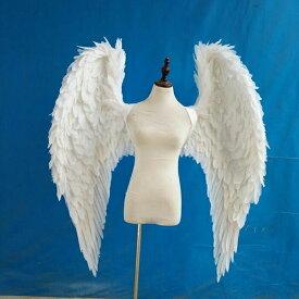天使 羽 コスプレ 道具翼 wing ウイング ホワイト 125cm 天使みたい 妖精 悪魔 造型可 ファッションショー パーティーグッズ 撮影 ステージ道具 イベント 文化祭 コスチューム ハロウィン クリスマス lg019h2h2h2/代引不可