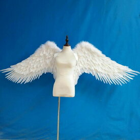 天使 羽 コスプレ 道具翼 wing ウイング ホワイト 広さ200cm 天使みたい 妖精 悪魔 ファッションショー パーティーグッズ 撮影 ステージ道具 イベント 文化祭 コスチューム ハロウィン クリスマス lg020h2h2h2/代引不可