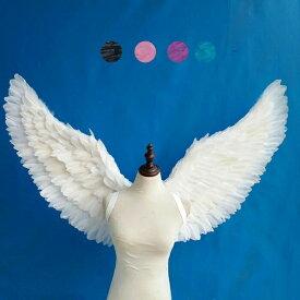 天使 羽 コスプレ 道具翼 wing ウイング ホワイト ブラック ブルー ピンク パープル 78*130cm 天使みたい 妖精 悪魔 ファッションショー パーティーグッズ 撮影 ステージ道具 イベント 文化祭 コスチューム lg021h2h2h2/代引不可