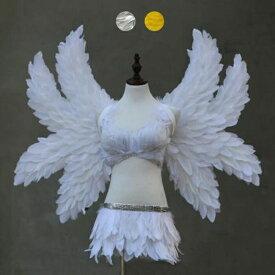 天使 羽 コスプレ 道具翼 wing ウイング ホワイト シルバー イエロー 90*115cm 八翼 天使みたい 堕天使 妖精 悪魔 ファッションショー パーティーグッズ 撮影 ステージ道具 イベント 文化祭 コスチューム lg024h2h2h2/代引不可