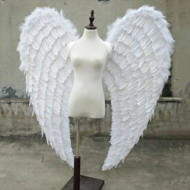 天使 羽 コスプレ 道具翼 wing ウイング ホワイト 120*140cm 天使みたい 妖精 悪魔 ファッションショー パーティーグッズ 撮影 ステージ道具 イベント 文化祭 コスチューム ハロウィン クリスマス lg025h2h2h2/代引不可