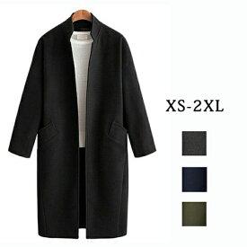 【サイズ有XS/S/M/L/XL/2XL】チェスターコート レディース コート ロング コート アウター 中綿コート レディースコート小さいサイズ 大きいサイズ カジュアル シンプル フォーマル あったか 綺麗な大人シルエット ブラック グレーdd145l2l2m2/代引不可