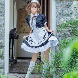メイド服 コスプレ ハロウィン 衣装 コスチューム レディース 仮装 かわいい 大人用 イベント 半袖 エプロンドレス d1282s1s1t2