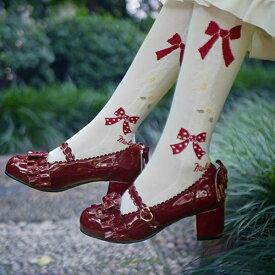 ロリータ靴 レディースシューズ パンプス メイド靴 可愛い 姫様 お嬢様 女の子 ロリータ おしゃれ リボン付き 日常 文化祭 イベント 美脚 お茶会 通学 ベルト付 ストラップ コスプレ シューズ ブラック ベージュ ホワイト レッド dd055zozot2