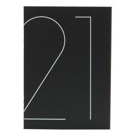 【etranger di costarica/エトランジェ ディ コスタリカ】ダイアリー 2021年 マンスリー ノート TYPO A5 ブラック 0101-DMD-T1-02 ゆうパケット(メール便)出荷 新学期 お祝い